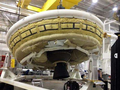 NASA hopes to launch 'flying saucer' after delay (Update)