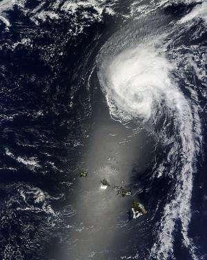NASA sees a weaker Tropical Storm Julio far north of Hawaii
