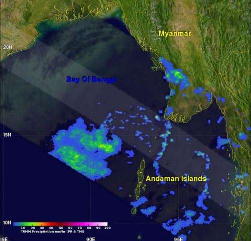 NASA sees developing tropical cyclone in Bay of Bengal