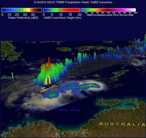 NASA sees some strength left in remnants of Tropical Cyclone Gillian