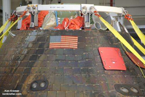 NASA's first Orion crew module arrives safely back at Kennedy Space Center