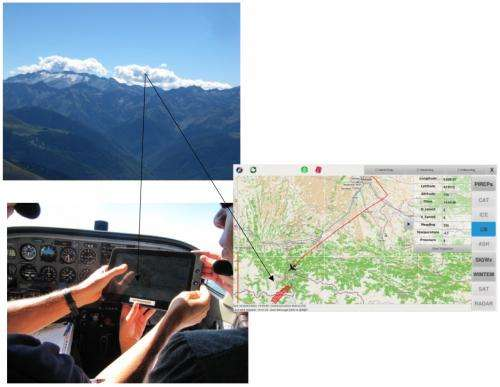 Safer flying with satcom weather app