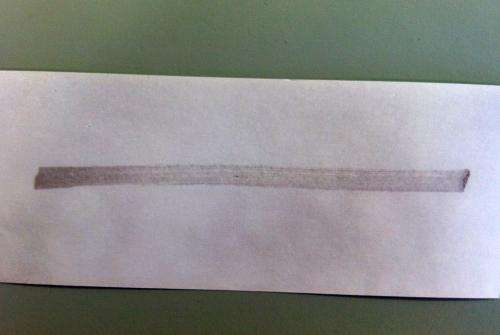 Technology can identify the hidden properties of receipts containing fingerprint deposits