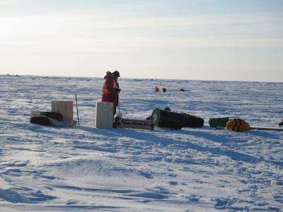 Tracking the breakup of Arctic summer sea ice