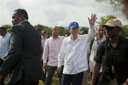UN chief in Haiti launches sanitation program (Update)