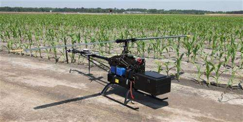 Unmanned aerial vehicles are flying to the US farm