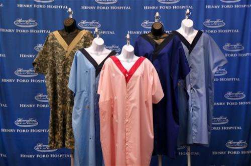 US health system reveals gown to cover rears