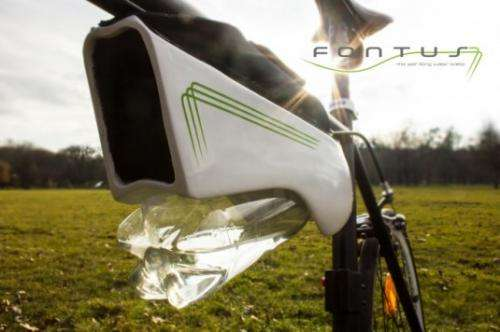 Water bottle for bike collects moisture from the air