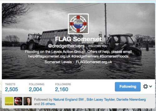While ministers dither on floods, social media springs into action