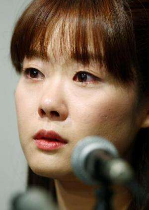 Haruko Obokata, 30, a female researcher of Japan's Riken Institute, pictured at a press conference in Osaka, western Japan on Ap
