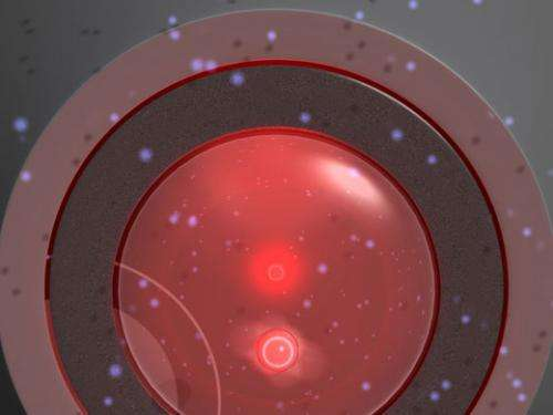 Nanoparticle trapped with laser light temporarily violates the second law of thermodynamics