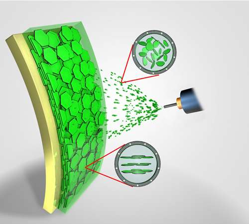 Researchers use common spray gun to create self-assembling nanoparticle films