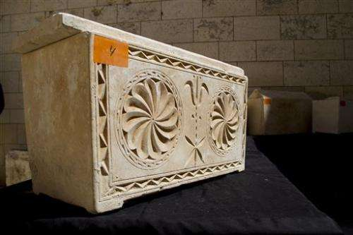 11 ancient burial boxes recovered in Israel