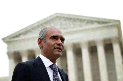 This picture taken on April 22, 2014 in Washington shows Chet Kanojia, CEO of Aereo, a company that suspended its services after