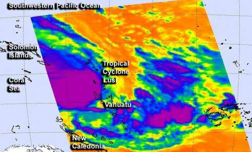 NASA satellites eye troublesome Tropical Cyclone Lusi