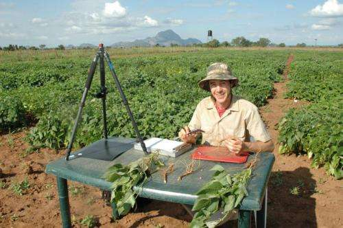 Automated imaging system looks underground to help improve crops
