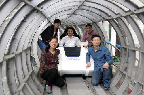 Enclosed tube maglev system tested in China