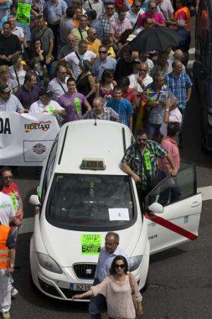 European taxi protest: Transport tech upheaval