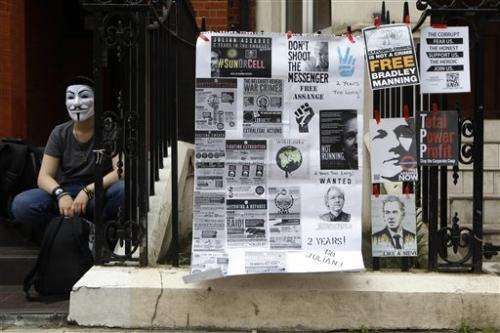 Julian Assange marks 2nd year in Ecuador's embassy