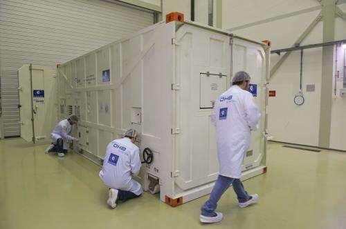Latest Galileo satellite arrives at ESA's test centre