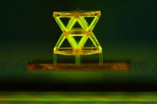 Nanostructured material based on repeating microscopic units has record-breaking stiffness at low density (w/ Video)