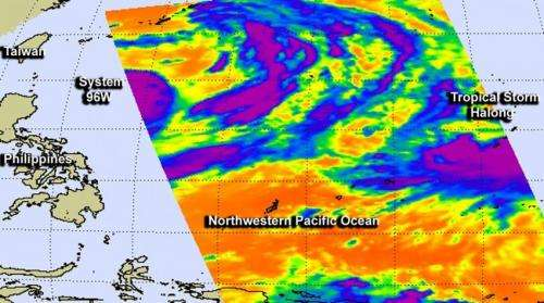 NASA catches two tropical troublemakers in Northwestern Pacific: Halong and 96W