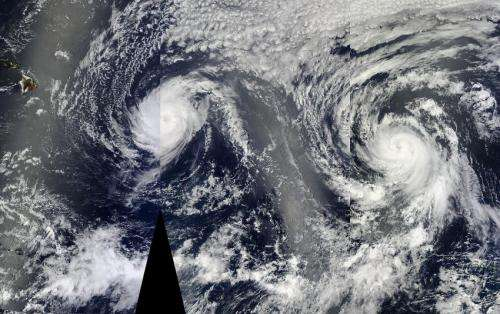 NASA sees heavy rainfall in Iselle as the hurricane nears Hawaii