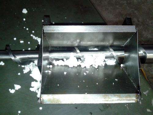 Recycling Styrofoam into rigid plastic