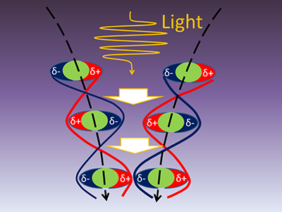 Strengthening weak cohesive forces among molecules and atoms by light