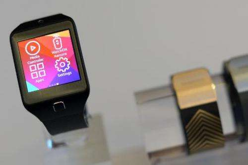 The Samsung Galaxy Gear 2 is presented at the Mobile World Congress in Barcelona on February 23, 2014