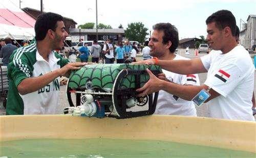 Winners named in global underwater robot event