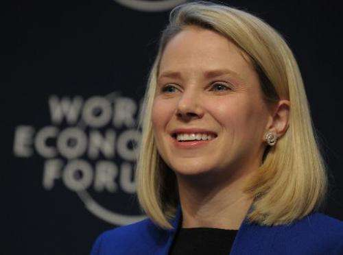 Yahoo CEO Marissa Mayer takes part in the session on the opening day of the World Economic Forum in Davos on January 22, 2014