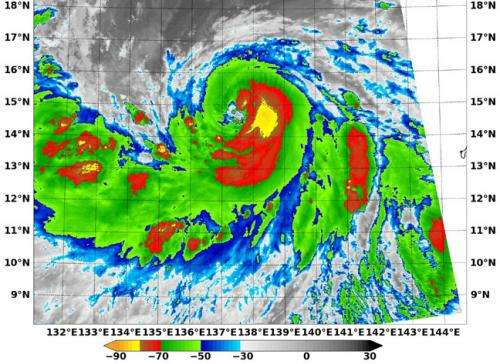 NASA sees Tropical Storm Halong's 'best side'