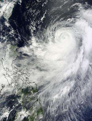 NASA satellite sees a somewhat lopsided Typhoon Halong