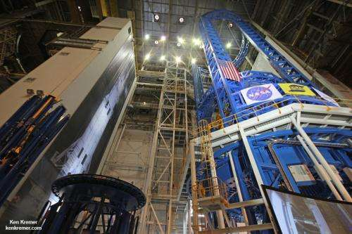 Assembly completed on powerful Delta IV rocket
