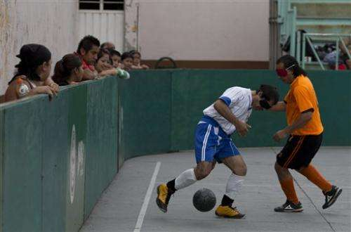 Blind find game in Mexico soccer league