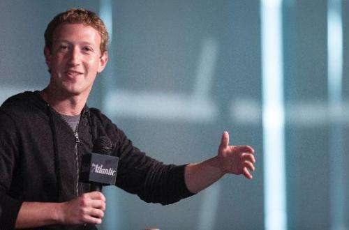 Facebook Founder and CEO Mark Zuckerberg speaks during an interview session at the Newseum in Washington, DC, on September 18, 2