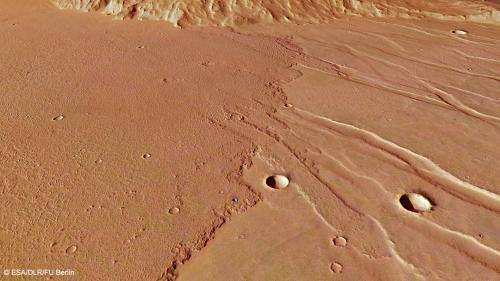 Lava floods the ancient plains of Mars