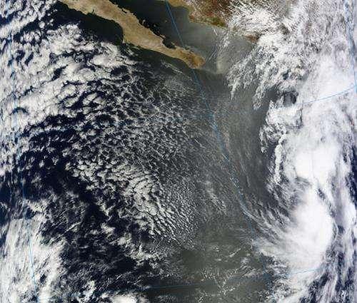 NASA sees system 90E moving toward southwestern Mexico