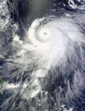 NASA sees Typhoon Halong's eye wink