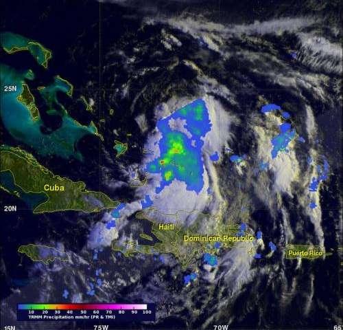 NASA's TRMM and Aqua satellites gaze into Hurricane Cristobal