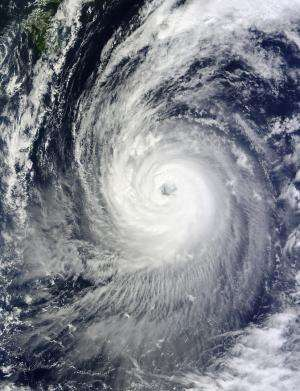 Two NASA satellites stare at Typhoon Phanfone's large eye
