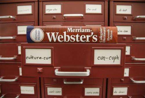 US dictionary names 'culture' word of the year
