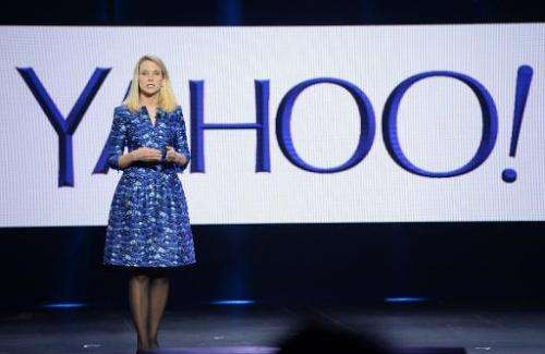 Yahoo CEO Marissa Mayer during her keynote address at  the International CES in Las Vegas, Nevada on January 7, 2014