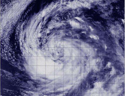 NASA sees Tropical Storm Lowell's tough south side
