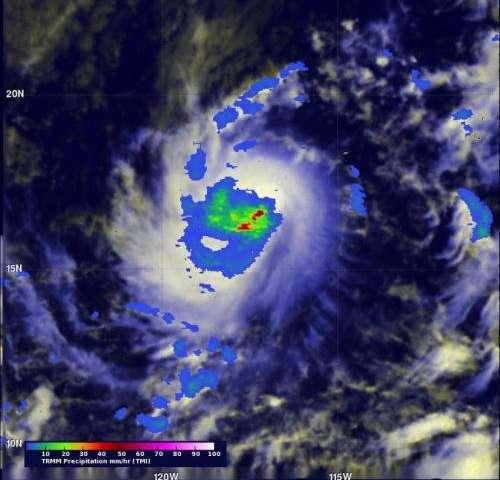 NASA sees Tropical Storm Karina get a boost