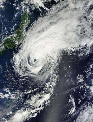 NASA sees Tropical Storm Fengshen looking more like a frontal system