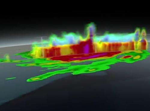 3-D hurricane view of Arthur reveals rain towers