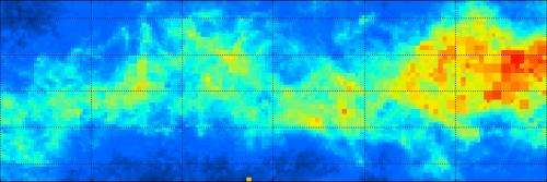 3D map shows dusty structure of the Milky Way