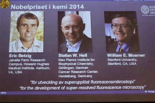 3 win Nobel for giving microscope sharper vision